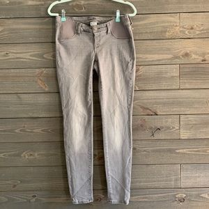 Old Navy Gray Skinny Maternity Jeans